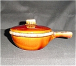 Click here to enlarge image and see more about item 613s: Hull Handled Bowl with Lid