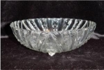 Click here to enlarge image and see more about item 614: Anchor Hocking 3 Footed Bowl