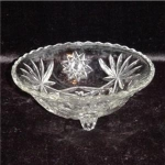 Click here to enlarge image and see more about item 621: Anchor Hocking Prescut Bon Bon Dish