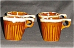 Click here to enlarge image and see more about item 626s: Brown Drip Mugs