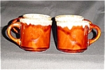 Brown Drip Mugs Set of 4