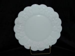 Click here to enlarge image and see more about item 62: Westmoreland Panel Grape Milk Glass Plate