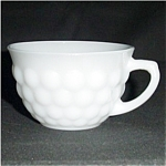 Click here to enlarge image and see more about item 640s: Anchor Hocking Milk Glass Bubble Cup
