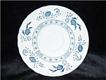 Click here to enlarge image and see more about item 647ss: J & G Meakin Blue Nordic Saucer