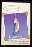 2002 Fashion Afoot Hallmark Ornament