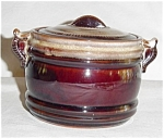 Click here to enlarge image and see more about item 678s: Brown Handled Dish with Lid Made in Japan