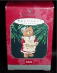 "Click here to enlarge image and see more about item 67h: Hallmark Ornament ""Mom"" Bear"