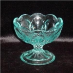 Click here to enlarge image and see more about item 680: Blue Glass Bowl
