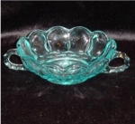 Click here to enlarge image and see more about item 681: Blue Handled Bowl