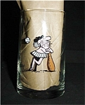 Click here to enlarge image and see more about item 683s: Arbys BC Ice Age Baseball Collectors Glass