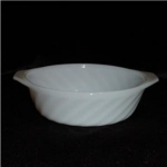 Click here to enlarge image and see more about item 696: Fire King Swirl Small Casserole Dish