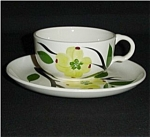 Click to view larger image of Dogwood Pattern Cup and Saucer Set (Image1)