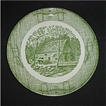 Click here to enlarge image and see more about item 707s: Currier And Ives Dinner Plate