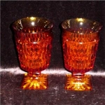 Click here to enlarge image and see more about item 708: Amber Drinking Glasses