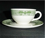 Currier And Ives Cup And Saucer Set