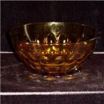 Click here to enlarge image and see more about item 712: Amber Glass Fruit Bowl
