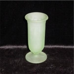 Click here to enlarge image and see more about item 716: Frosted Green Bud Vase