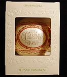 Click here to enlarge image and see more about item 721h: 1981 Grandmother Satin Hallmark Ornament