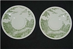 U.S.A Green Pattern Saucer Set of Two