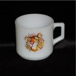 Click here to enlarge image and see more about item 724: Fire King Esso / Exxon Tiger Mug