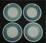 U.S.A Blue Pattern Saucer Set Of 4