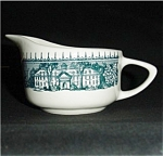 Click to view larger image of U.S.A. Creamer With Blue Pattern (Image1)