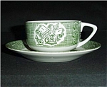 Click to view larger image of Old Curiosity Pattern Cup & Saucer (Image1)