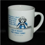 Click here to enlarge image and see more about item 745: Funny Side Up Coffee Mug