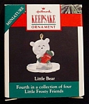 1990 Little Bear Miniature Hallmark Ornament