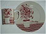 Click to view larger image of Fitz & Floyd Parsley Cup and Plate Set (Image1)