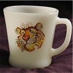 Click here to enlarge image and see more about item 759s: Fire King Esso Tiger Coffee Mug
