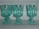 Set of Blue Footed Water Goblets