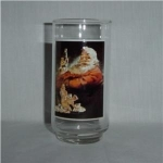 Click here to enlarge image and see more about item 787: Coca Cola Christmas Drinking Glass