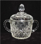 Click here to enlarge image and see more about item 79: Anchor Hocking Prescut Sugar Bowl