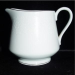 Click here to enlarge image and see more about item 802: Norleans China White Lace Creamer