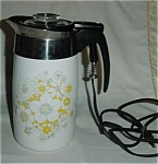Click here to enlarge image and see more about item 806s: Corning Ware Floral Pattern 10 Cup Coffee Pot