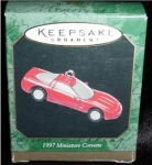 Click here to enlarge image and see more about item 80h: 1997 Miniature Corvette Hallmark Ornament