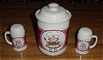 Click here to enlarge image and see more about item 810s: Campbells Cookie Jar & Salt & Pepper Shakers