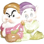 Click here to enlarge image and see more about item 816s: Disney Grumpy and Dopey Cookie Jar