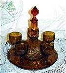 Click here to enlarge image and see more about item 832s: Tiara Sandwich Glass Decanter Set