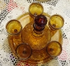 Click to view larger image of Tiara Sandwich Glass Decanter Set (Image2)