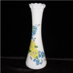 Click here to enlarge image and see more about item 836: Milk Glass Floral Bud Vase