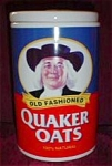 Click here to enlarge image and see more about item 836s: Quaker Oats 120th  Anniversary Cookie Jar