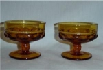 Click here to enlarge image and see more about item 83: Indiana Glass Amber Desert Bowls