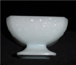 Click here to enlarge image and see more about item 841: Milk Glass Footed Candy Dish