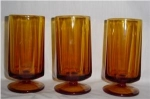 Amber Footed Drinking Glasses