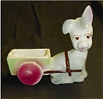 Click here to enlarge image and see more about item 85s: Donkey Pulling Cart Planter