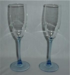Click here to enlarge image and see more about item 869: Set of 2 Champagne Glasses