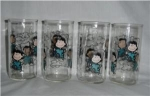 Click here to enlarge image and see more about item 875: Lucy Brown Drinking Glasses