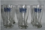 Lite Beer Glasses set of 6